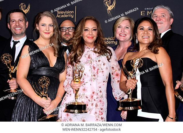 Creative Arts Emmy Awards 2017 Day 1 - Press Room Featuring: Leah Remini Where: Los Angeles, California, United States When: 09 Sep 2017 Credit: Adriana M