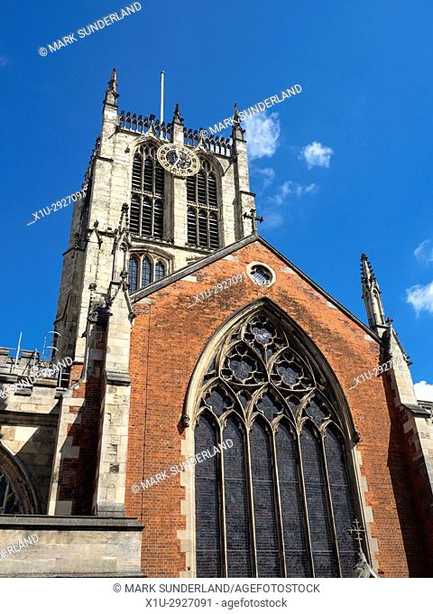 Hull Minster in the Old Town at Hull Yorkshire England