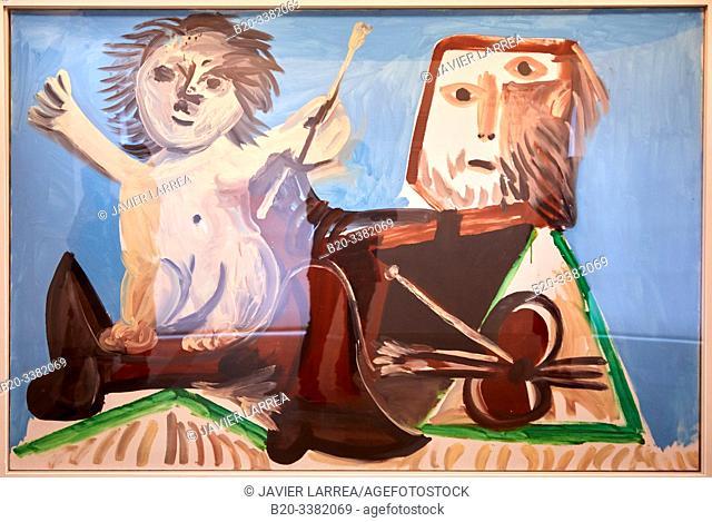 """""""Le Peintre et l'enfant"""", 1969, Pablo Picasso, Picasso Museum, Paris, France, Europe"""
