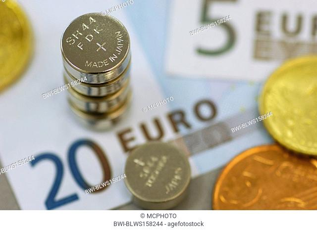 coin cell on Euro