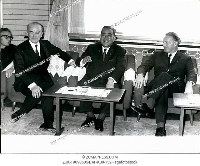 May 05, 1969 - British MP's Visiting Japan. A visiting six-member British Parliamentary mission, headed by Mr. John Cronin