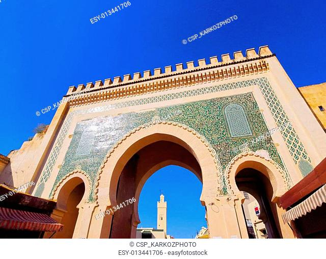 Bab Boujelud Gate in Fes, Morocco