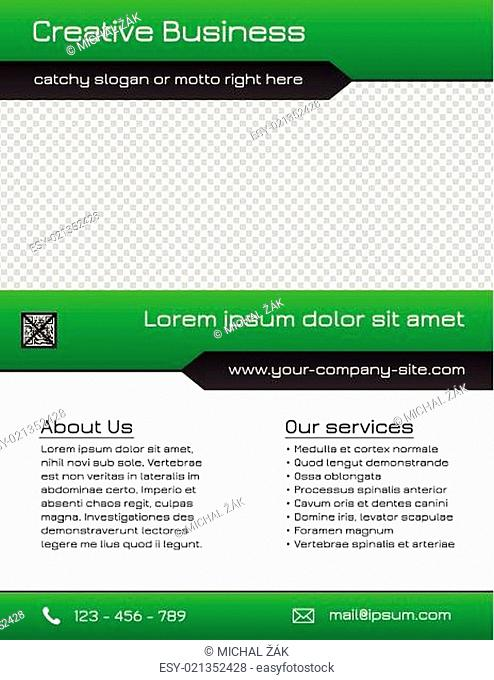 Business multipurpose flyer template - green and grey