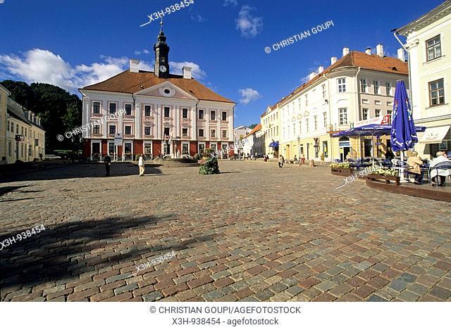place de l'Hotel de Ville,Tartu,Estonie,pays balte,europe du nord