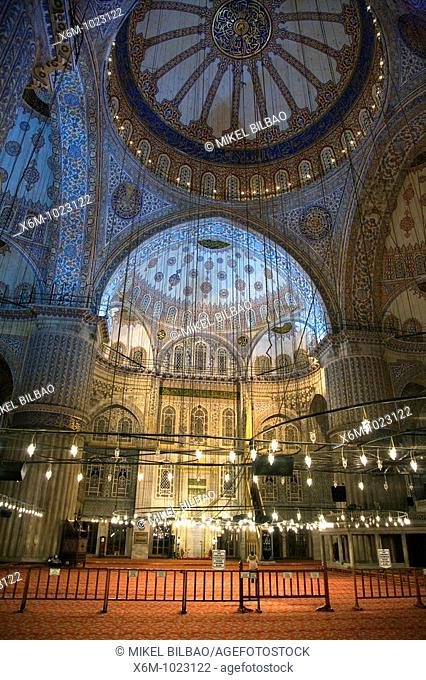 Blue Mosque or Sultan Ahmed Mosque Turkish: Sultanahmet Camii Interior view Istanbul, Turkey