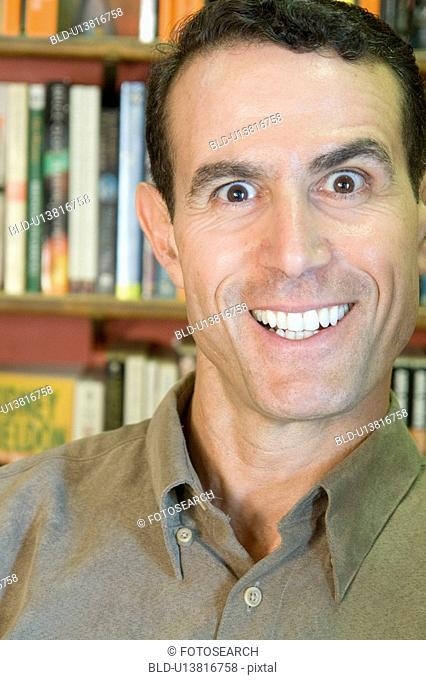 Portrait of man with big smile