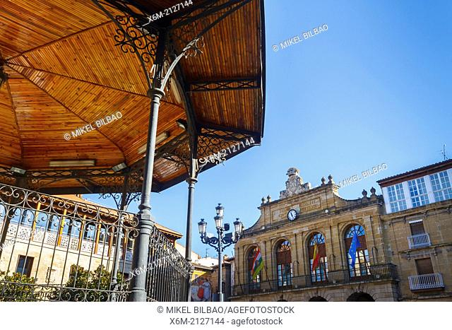 bandstand in Plaza de la Paz. Haro. La Rioja. Spain