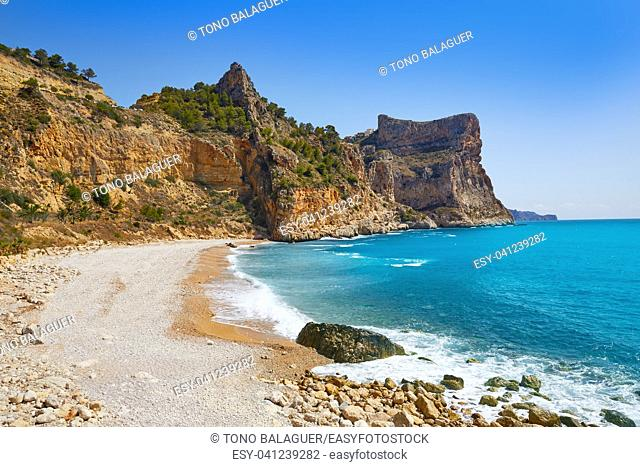 Cala del Moraig beach in Benitachell of Alicante at Spain