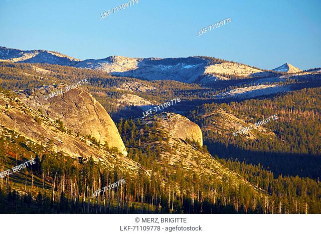 View from Glacier Point at High Sierra , Yosemite National Park , Sierra Nevada , California , U.S.A. , America
