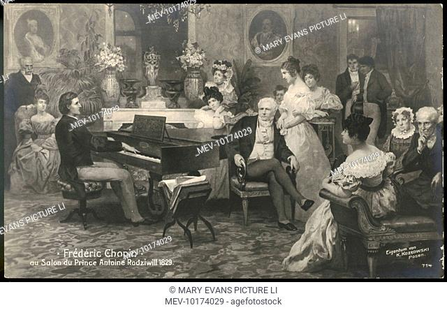 FREDERIC CHOPIN Prince Antoni Radziwill, a long admirer of Chopin's talents invites him to play at the palace in Berlin