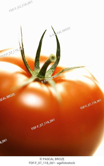 Close-up of a cherry tomato