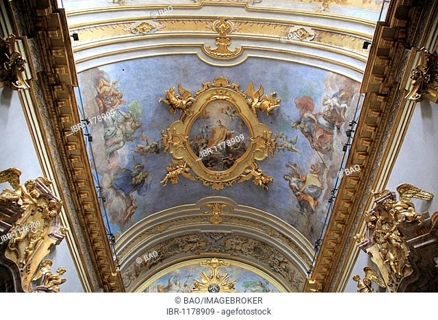 Ceiling fresco of the church of St. Maria sopra Minerva, Minerva tempel, Assisi, Umbria, Italy, Europe
