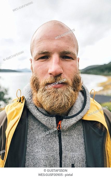 Portrait of a man travelling the Lofoten