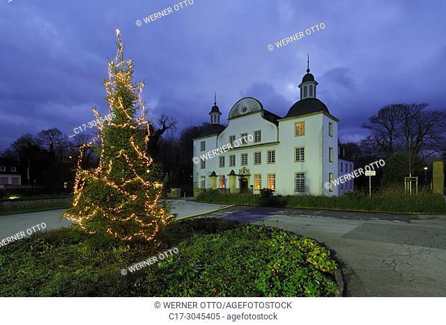 Essen, Borbeck, D-Essen, Ruhr area, Rhineland, North Rhine-Westphalia, NRW, Cultural Capital 2010, D-Essen-Borbeck, Castle Borbeck, moated castle, baroque