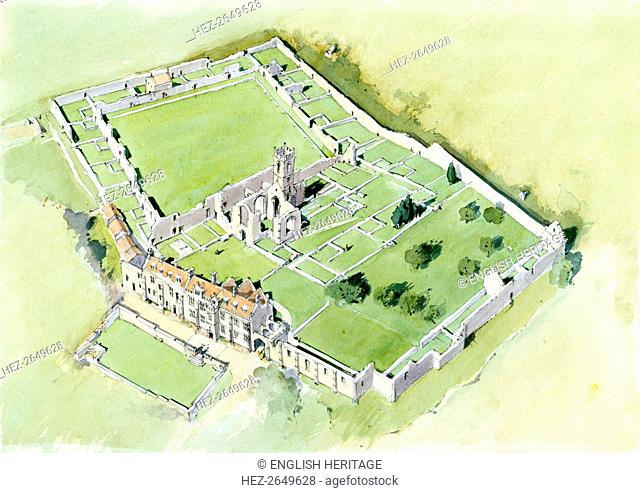Mount Grace Priory, c15th century, (c1990-2010) Artist: Terry Ball