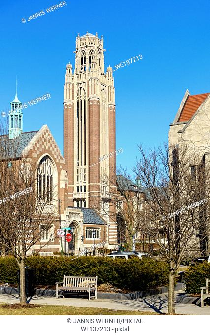 University of Chicago Campus in the Hyde Park area of Chicago, IL, USA