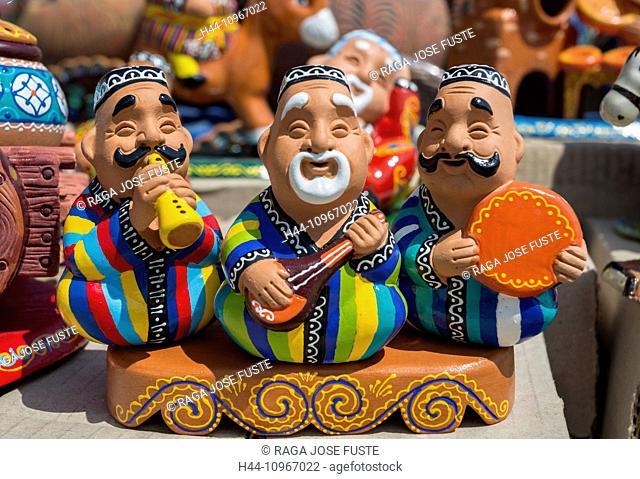 Tashkent, Uzbekistan, Central Asia, Asia, art, band, ceramic, chorsu, city, colourful, craft, doll, gift, local, market, music, souvenir, touristic, traditional