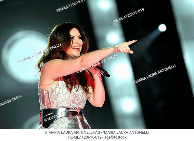 Italian singer Laura Pausini in concert, Rome, ITALY-12-06-2016
