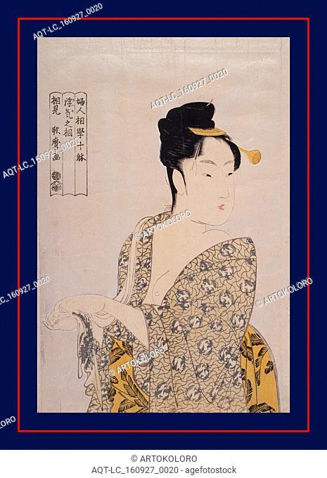 Uwaki no sA?Â' = [The fancy-free type], Kitagawa, Utamaro (1753?-1806), (Artist), Date Created: ca. 1793-ca.1804