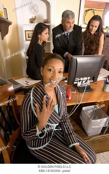 Women entrepreneurs in a business meeting