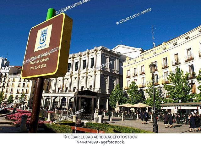 Plaza de Oriente, Madrid of the Austrians, Madrid, Spain