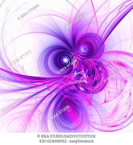 Computer rendered 3d abstract fractal illustration background for creative design