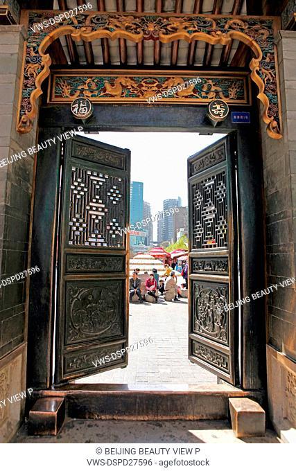 Door of Kunming building,Yunnan province,China