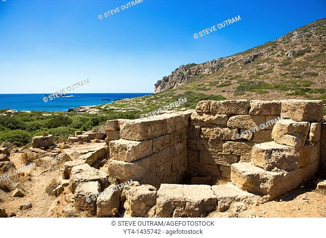 Greece, West Crete  Minoan Ruins of Ancient Falassarna  6th C BC