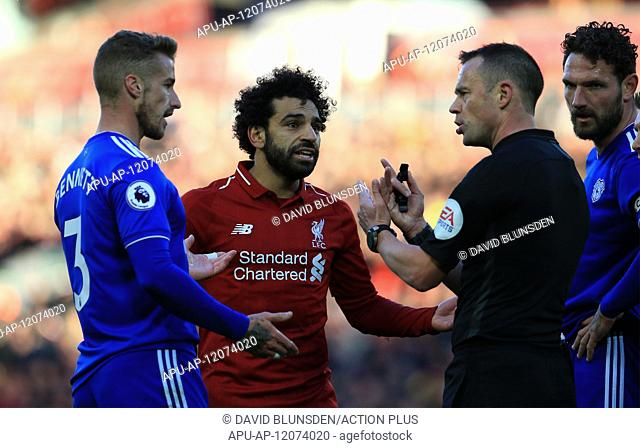 2018 EPL Premier League Football Liverpool v Cardiff City Oct 27th. 27th October 2018, Anfield, Liverpool, England; EPL Premier League football