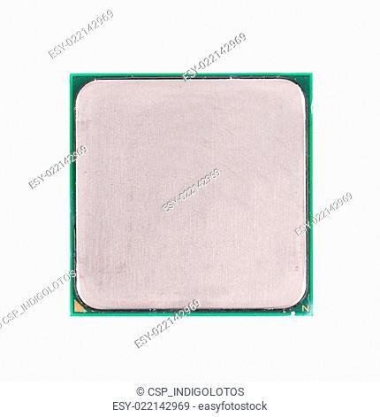 Central processor. Back view