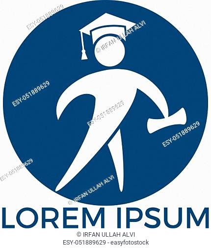 Educational vector logo design template