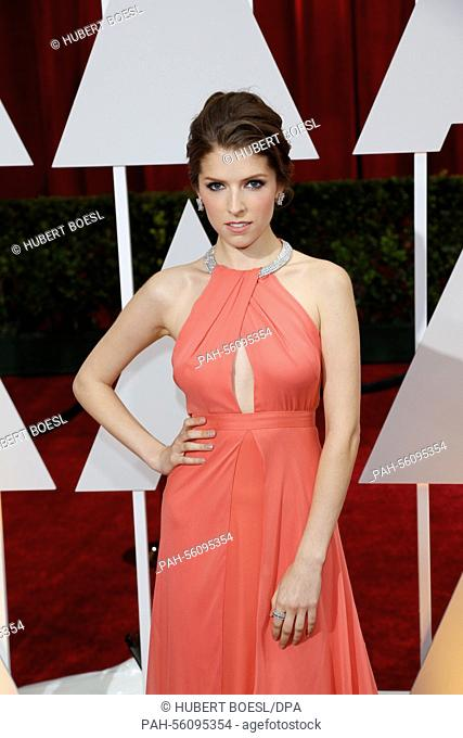 Actress Anna Kendrick attends the 87th Academy Awards, Oscars, at Dolby Theatre in Los Angeles, USA, on 22 February 2015