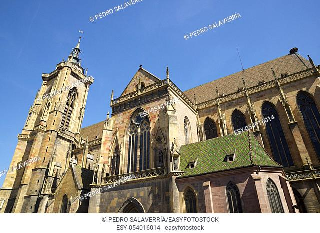 Cathedral in Colmar city, France