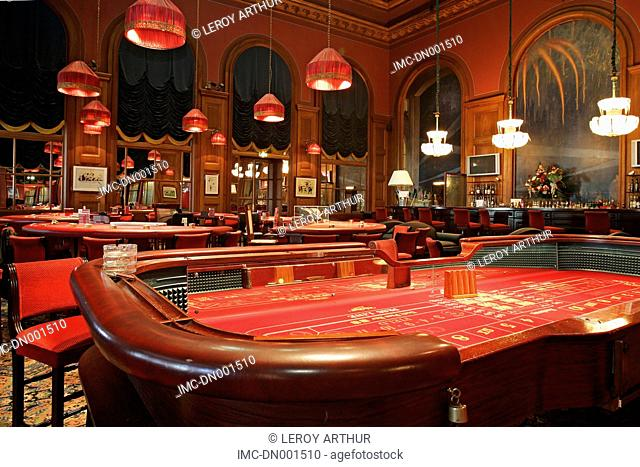 France, Normandy, Deauville, the casino, card table