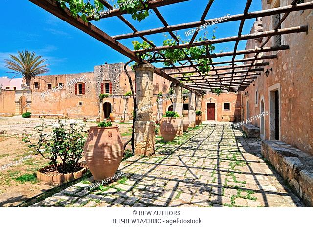 Arkadi Monastery, symbol of the struggle of Cretans against the Ottoman Empire , Rethymno, Crete, Greece