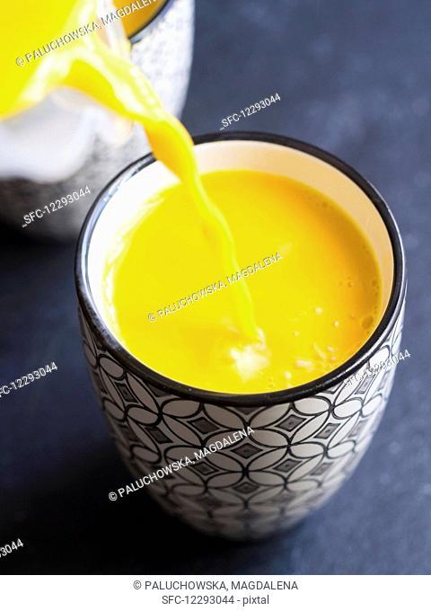 Homemade vegan golden milk