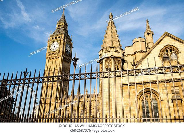 United Kingdom, England, London, Big Ben and Houses of Parliament