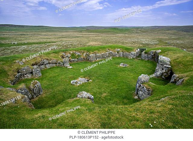 Stanydale Temple, Neolithic site on the Mainland, Shetland Islands, Scotland, UK