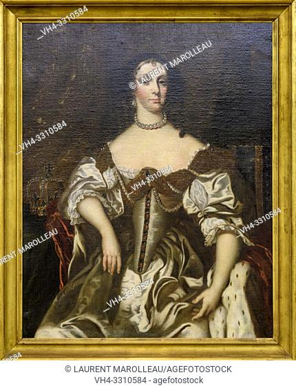 Portrait of Catherine of Braganza of Unknown Master after a model of Peter Lely, Queen of England, Portuguese School (1660)