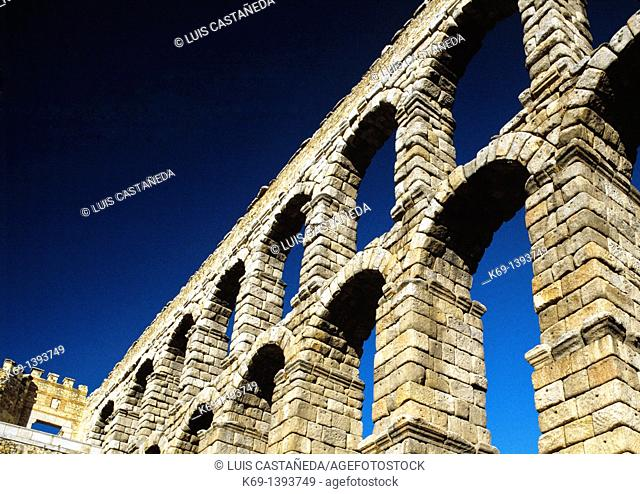 The Aqueduct of Segovia or more precisely, the aqueduct bridge is a Roman aqueduct and one of the most significant and best-preserved ancient monuments left on...