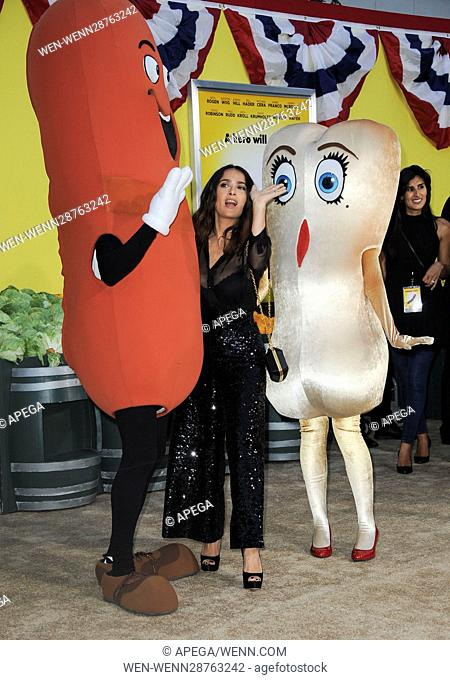 Film Premiere of Sausage Party Featuring: Salma Hayek Where: Los Angeles, California, United States When: 10 Aug 2016 Credit: Apega/WENN.com