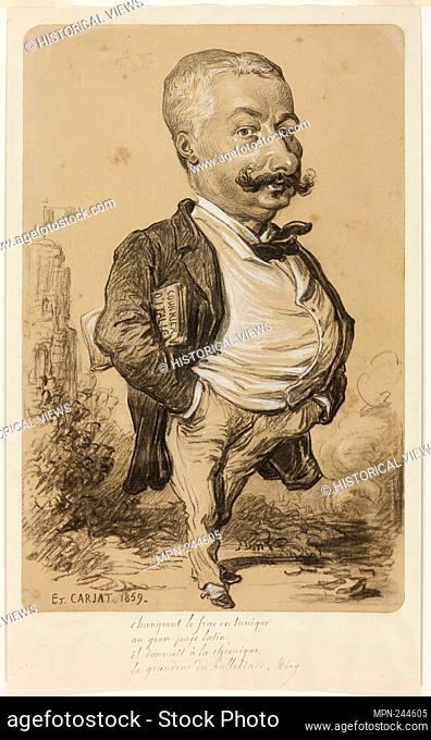 Caricature of a Man - 1859 - Etienne Carjat French, 1828–1906 - Artist: Etienne Carjat, Origin: France, Date: 1859, Medium: Charcoal