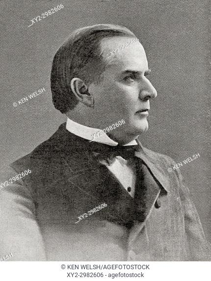 William McKinley, 1843 - 1901. 25th President of the United States of America. From Hutchinson's History of the Nations, published 1915