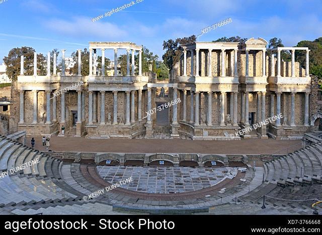 Europe, Spain, Badajoz, Merida, The Ancient Roman Theatre (Teatro Romano de Mérida)