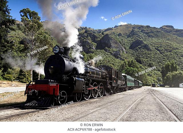 The Flyer - a working steam engine in Kingston on the South Island of New Zealand