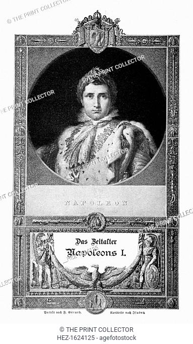 Napoleon I Bonaparte, Emperor of the French, (1900). Napoleon (1769-1821) enjoyed a meteoric rise through the ranks of the French Revolutionary army