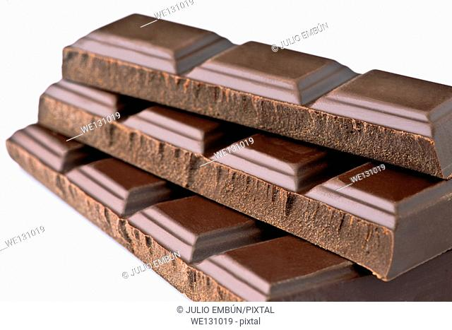 dark chocolate bars; ordered on white base