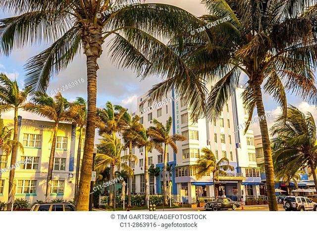 park central Hotel, South Beach, Ocean Drive, Miami, Florida, USA