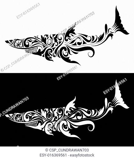 1deeceb91 Shark tattoo tribal Stock Photos and Images | age fotostock