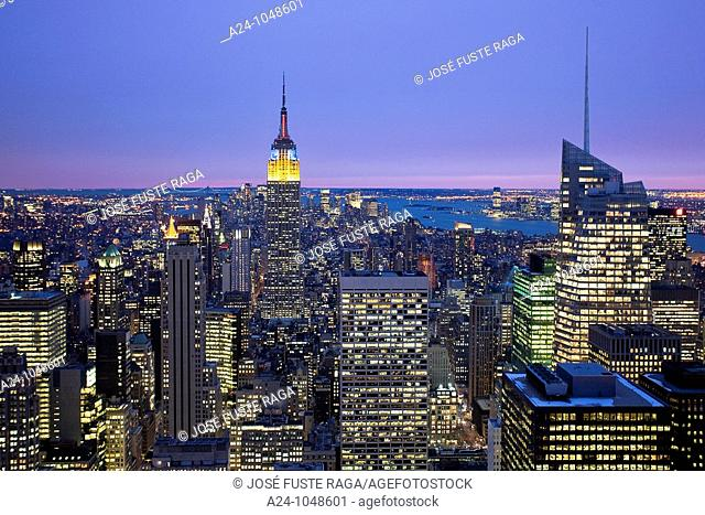 Midtown Manhattan from RCA Building, New York City, USA